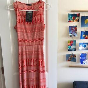 NWT boho chic orange maxi dress size S